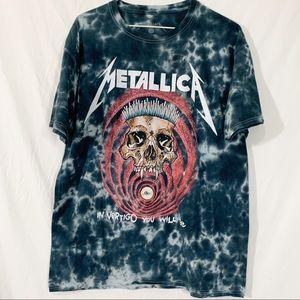 Other - Metallica- Black and red tie dyed in vertigo